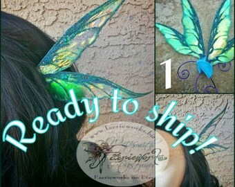 Fantasy Ear Fairy Faery Ear Wrap Wings LARP Cosplay Halloween Costume Fair Festival Ready To Ship In Stock