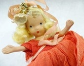 Vintage Nancy Ann Storybook Doll Little Girl Blonde Hair Ceramic Body