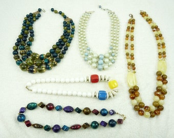 Nice Mixed Lot of Vintage Beaded Necklaces
