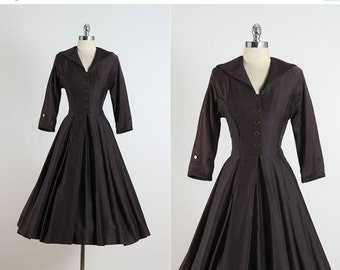 30% SALE Splendid Day . vintage 1950s dress . vintage dress . 5384
