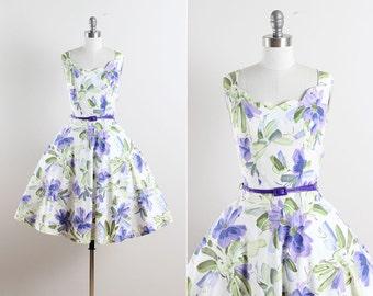 Leelanau . vintage 1950s dress . vintage dress . 5602