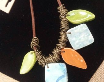 Color Ceramic Necklace