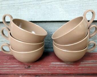 6 Brown Vintage Melmac Cups