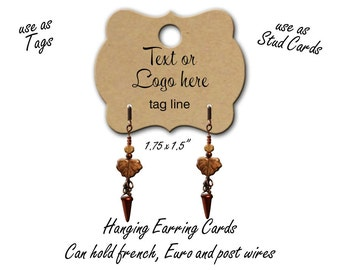 Custom Earring Cards, Hanging Earring Tags, Jewelry Display Cards, Custon Stud Cards, Lever Back Cards, tag 5, 5