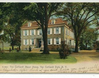 Van Cortlandt Manor House Van Cortlandt New York 1907 postcard