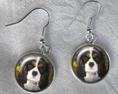 CUSTOM Pet Dangle Earrings ~ October Birthday ~ Pet Lover Gift ~ From Your Photo ~ Dog Earrings ~ From Your Photos