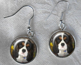 CUSTOM Photo Dangle Earrings ~ October Birthday ~ Pet Lover Gift ~ From Your Photo ~ Dog Earrings ~ From Your Photos