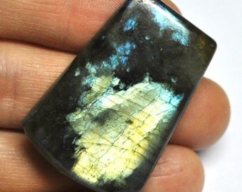 Labradorite, Natural Gemstone, Freeform Cabochon, Flat Back, Jewelry Supply - 38.9 x 27.2 x 6.9 mm - 69.2 ct - 160229-30