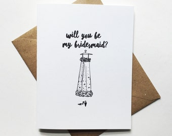 Will you be my bridesmaid? Greeing Card