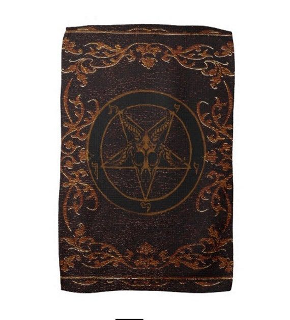 Baphomet Grimoire Kitchen Witch Towel