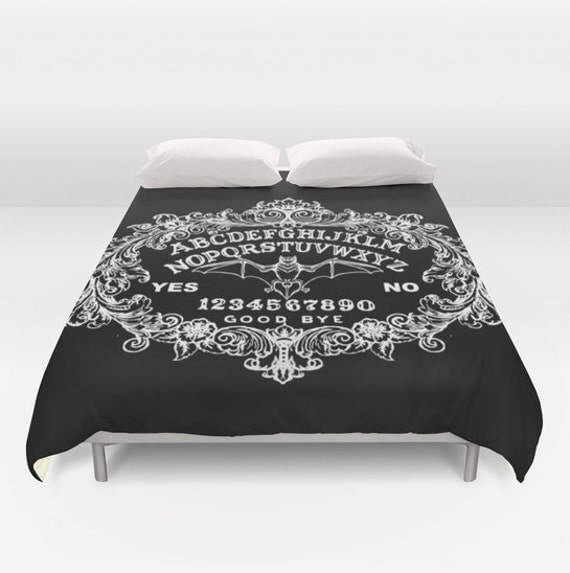 Bat Ouija Duvet Cover