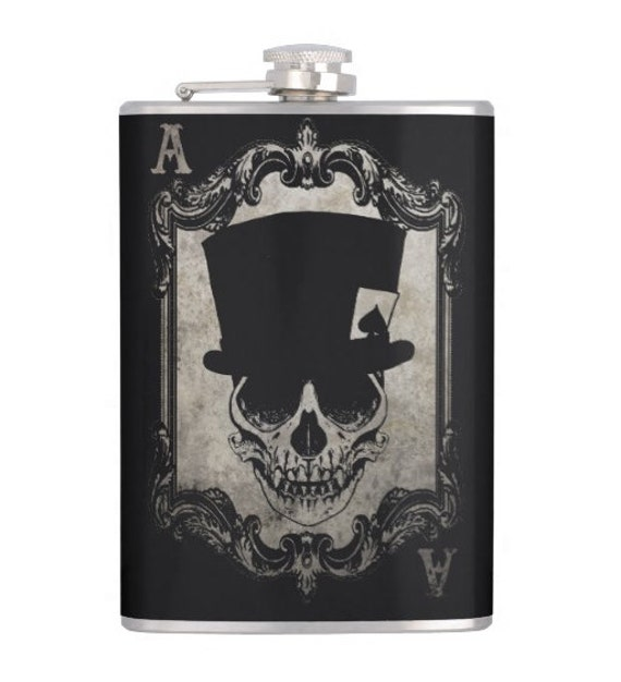 Voodoo Monkey Ace of Spades hip flask