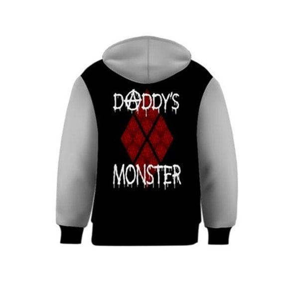 Daddy's Monster Harley inspired Kids Hoodie