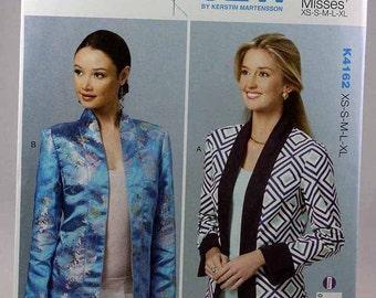 Kwik Sew 4162, Misses' Jackets Sewing Pattern, Sewing Pattern, Unlined Jackets Pattern, Misses' Sizes XS, S, M, L, Xl, New and Uncut