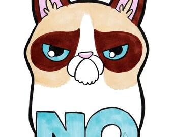 GRUMPY CAT 5x7 Art Print - Kitty Celebs of the Interwebs