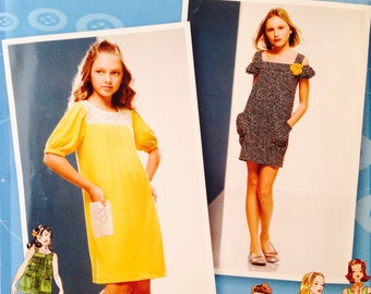 Uncut, Girl Sizes 8 1/2-16 1/2 Simplicity Project Runway Sewing Pattern 2983 Tunic Top Knit Dress Mini Dress, Trendy and Cute