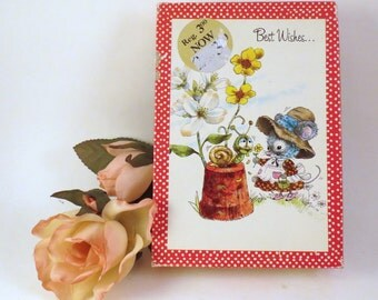 Fun 'n Frolic Vintage USA Unused Box 10 Greeting Cards All Occasion Elf Mouse Skunk Giordano