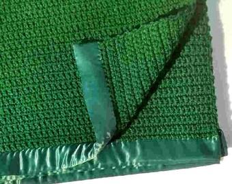 "Hunter Green Acrylic Baby Blanket--50"" x 50"""