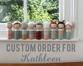 Custom kokeshi for Kathleen