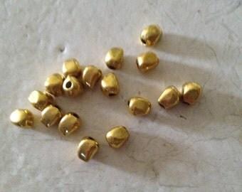 Tibetan Solid Nugget Bead (20) a set