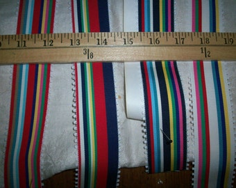 vintage picot edged striped grosgrain ribbon yardage