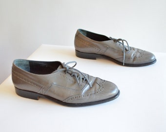 Vintage 1980s PUCCINI leather oxfords / 5.5