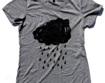 Rain Cloud WOMENS T Shirt  -  Available in S M L XL and two shirt colors
