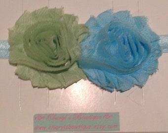 Shabby Flower Headband, Toddler, Adult, Wedding, photo prop