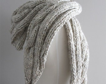 KNITTING PATTERN- Cable Hooded Scarf PDF knitting pattern