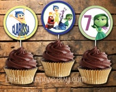 Inside Out Cupcake Toppers