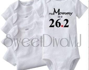 Infant Onesie Baby Gift Workout Fitness Running Baby Onesie 26.2 Marathon