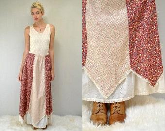 Long Hippie Skirt  // 70s Peasant Skirt  //  THE ABIGAIL