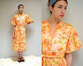 Tropical Dress  //  70s Hawaiian Dress  //  TROPICAL BIRDS
