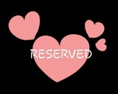 Reserved for Romy and Lana