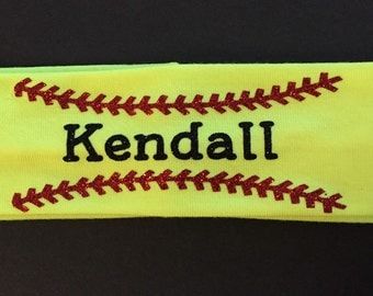 Personalized Softball / Baseball Headband