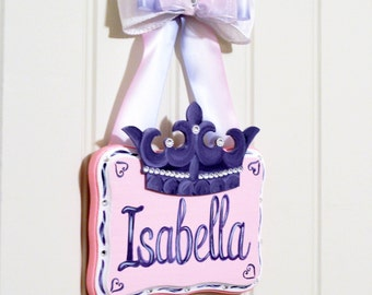 Personalized Princess Sign, Girls Hand Painted