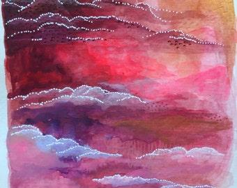 Blushing Series: Abstract #6 Original Painting