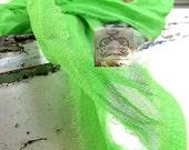 Apple Green Silk Chiffon Ribbon