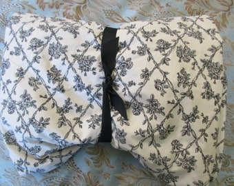 Waverly Garden Room king fitted sheet -  cotton, floral, cream, black