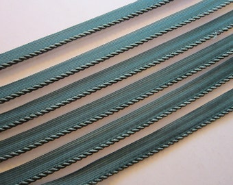 10 yards green CORDING - green cord - home decorator trim, home dec piping - 1/4 inch plus fabric lip