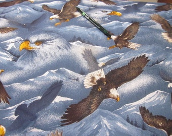 destash P and B Naturscapes eagles quilting fabric sold by the yard