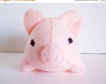 ON SALE Small Pink Pig Stuffed Animal