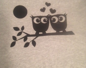 Owls in Love t-shirt - READY TO SHIP