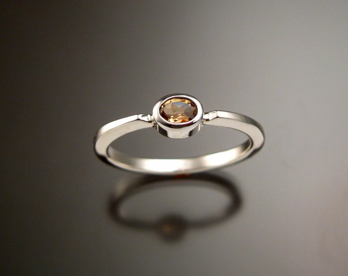 Natural Imperial Topaz stackable ring Sterling Silver made to order in your size