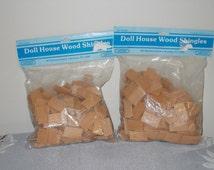 Doll House Wood Shingles, Rectangle Doll House Shingles, Doll House Supplies, Doll House Construction