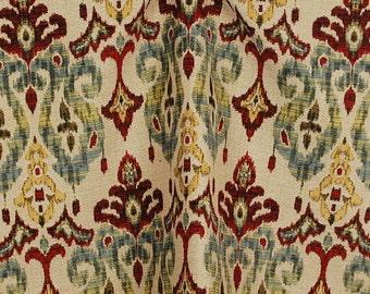 Sandoa Flame Ikat Heavy Upholstery Fabric