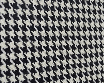 D2286 Houndstooth Black Antique White Fabric