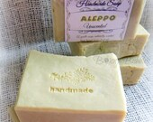 ALEPPO Soap - all natural with laurel berry fruit oil - savon naturelle - gentle for face and body - vegan- hot process