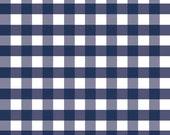 Navy Blue Large Gingham Fabric - Riley Blake Large Gingham - Navy Check Fabric