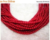 """20% OFF ON SALE 16"""" long Red Coral 3mm Round Beads, Gemstone Beads"""